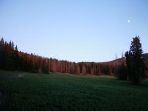 Pass above Brush Mountain Lodge