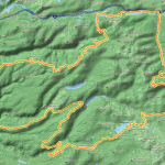 Small sample of Sierra Trail Race route
