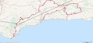 Spain Bike Tour Route